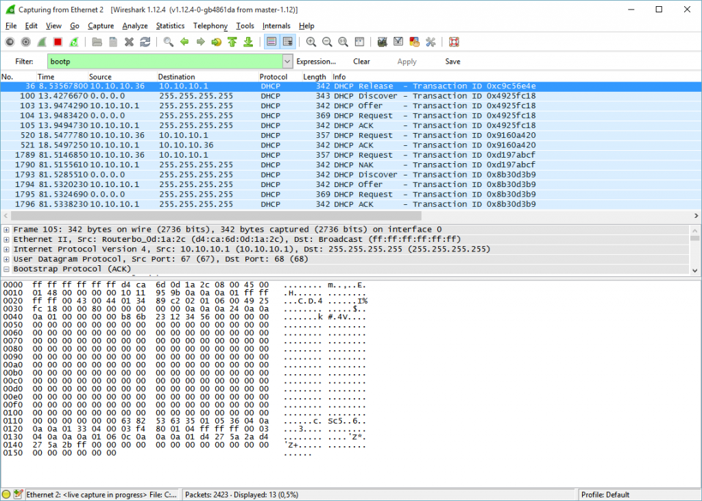 WireShark-DHCP2